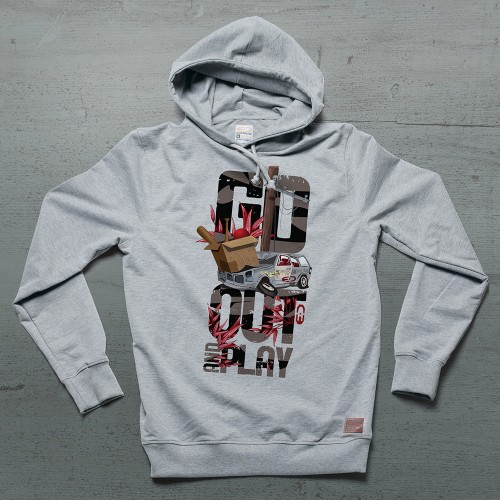 Go Out Hoodie - Gri