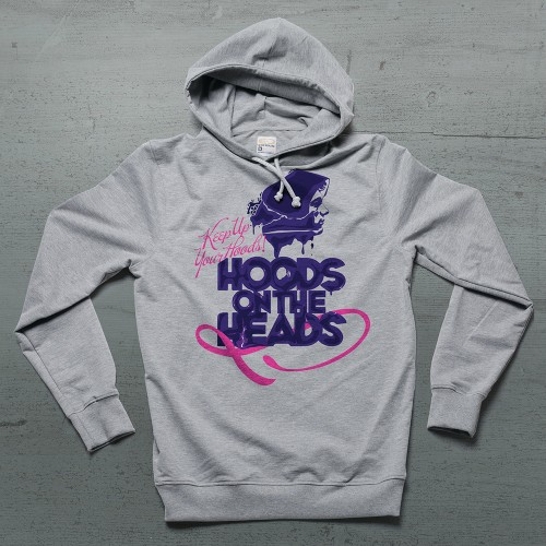 Hoods On Heads Hoodie - Gri