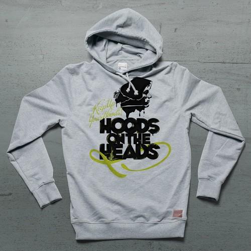 Hoods On Heads Hoodie Siyah - Gri