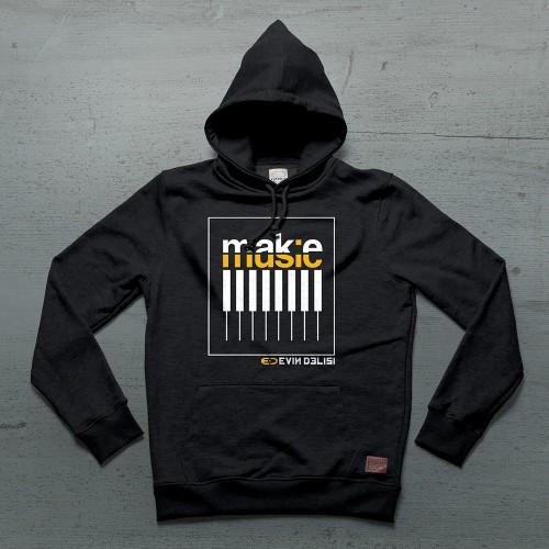 Keys Hoodie Kanguru - Siyah