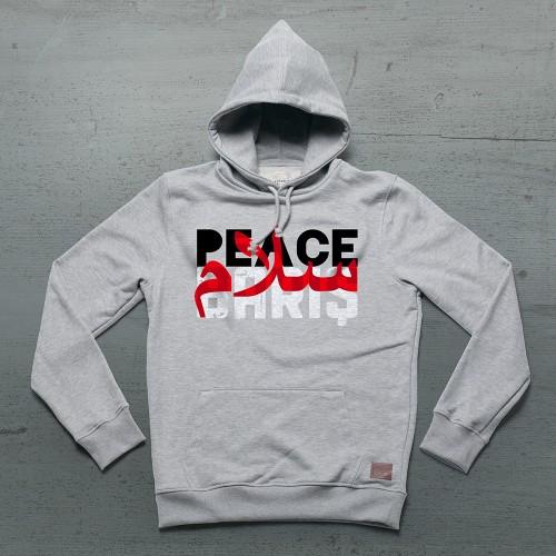 Peace Hoodie Kanguru - Gri