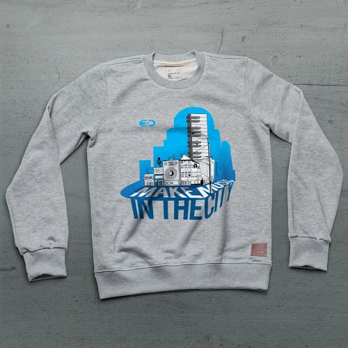 City Sweatshirt - Gri