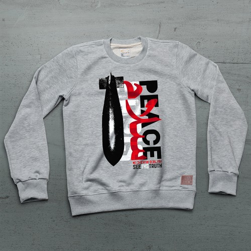 Peace Sweatshirt - Gri