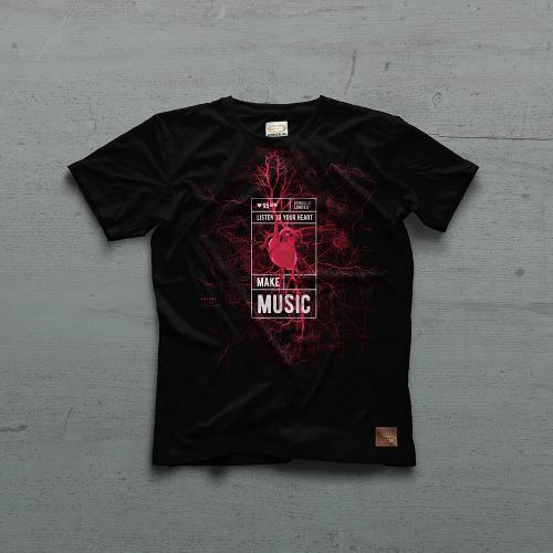 95 BPM Tshirt - Siyah