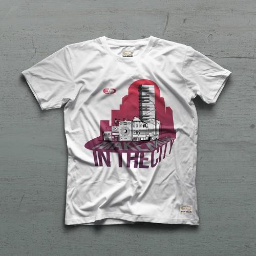 City Tshirt - Beyaz