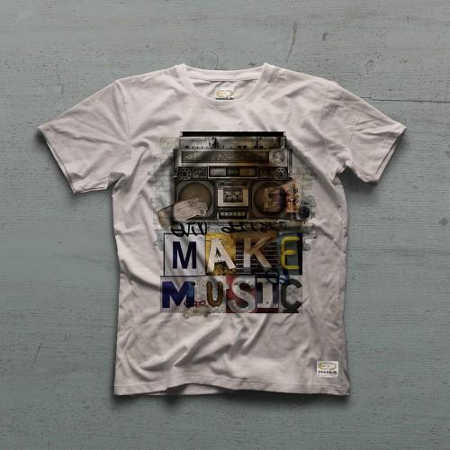 Boombox Tshirt - Ekru