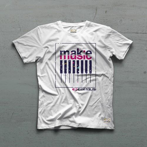 Galaxy Tshirt - Beyaz