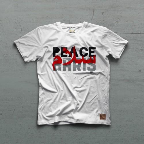PEACE II Tshirt - Beyaz