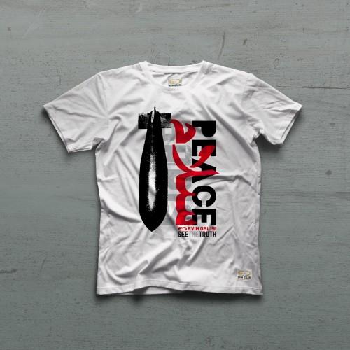Peace Tshirt - Beyaz