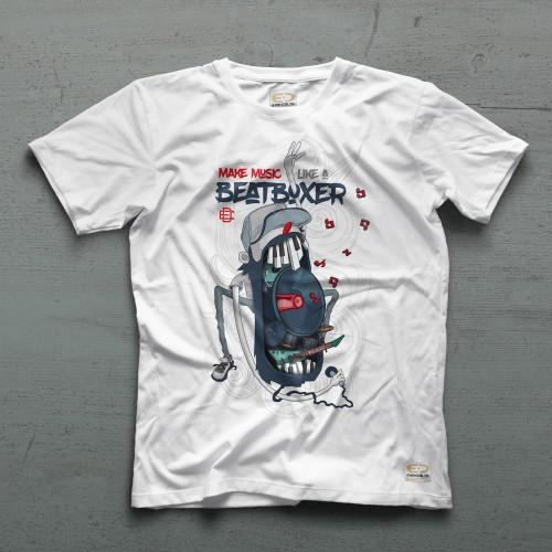 Beatboxer Tee - Beyaz